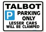 TALBOT Large Metal_Sign  sunbeam lotus alpine avenger